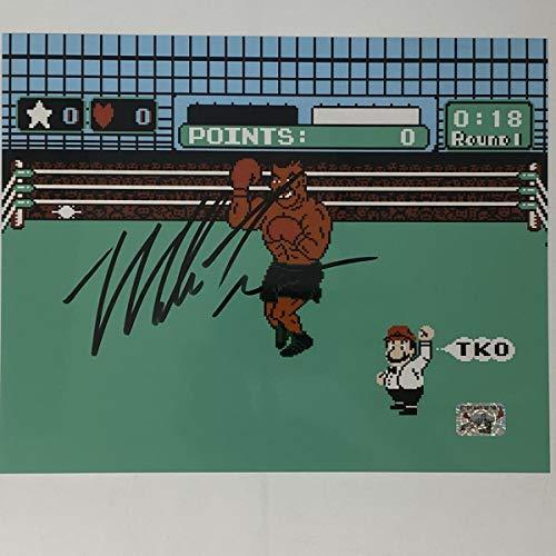 Autographed/Signed Mike Tyson Punchout Nintendo Video Game Boxing 8x10 Photo Athlete Hologram COA