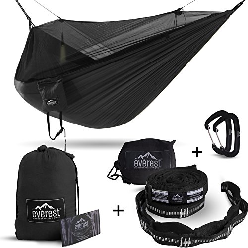 Everest Double Camping Hammock with Mosquito Net | Bug-Free Camping, Hiking, Backpacking & Survival...