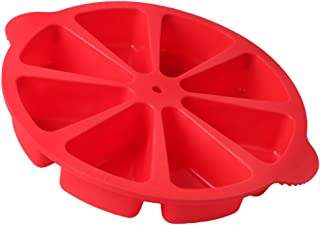 Baking Molds Triangle Cavity Silicone 8 Red Silicone Portion Cake Mold Soap Mould Pizza Slices Scone Baking Pan