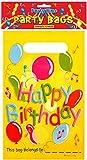 Henbrandt Lot de 12 pochettes surprises en plastique Motif Happy Birthday