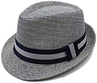 Summer Women Men Linen Beach Sun Hat for Elegant Lady Hat TuanTuan (Color : Gray, Size : 56-58CM)