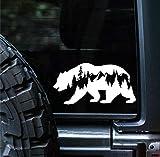Sunset Graphics & Decals Bear Mountains Adventure Wanderlust Decal Vinyl Car Sticker | Cars Trucks Vans Walls Laptop | White | 5.5 inches | SGD000187