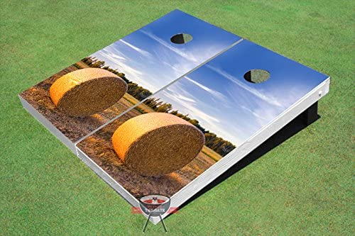 All American Tailgate Hay Inexpensive Bale Theme Cornhole Boards Corn Hole sold out G