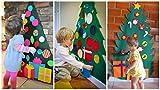COOFIT Filz Weihnachtsbaum,Weihnachten Deko 3.2ft DIY Filz Weihnachtsbaum Set mit 28 Pcs Deko Weihnachten Weihnachtsspiel Kinder Spielzeug - 7