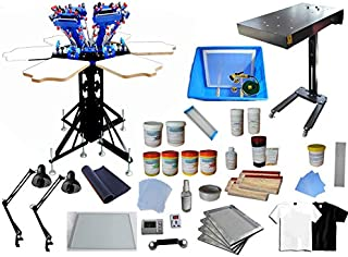 6 Color 6 Station Screen Printing Kit