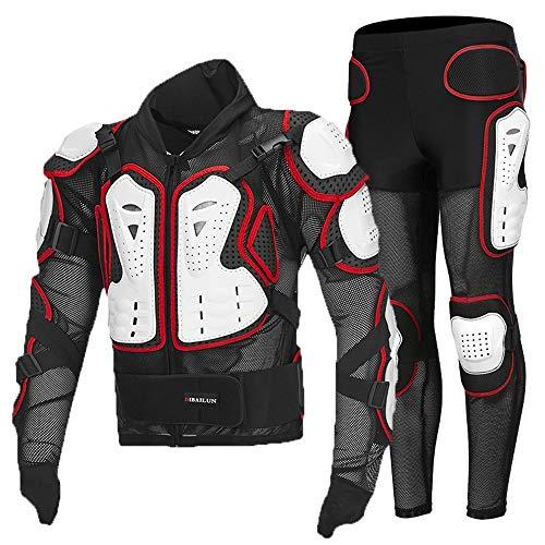 SJAPEX Armatura Moto Protezione di Motocross Giacca Moto Corpo Armatura Indumenti di Protezione Completa Moto Professionale Sportivo per Uomo Adulto Spina Dorsale Tuta da Motociclista