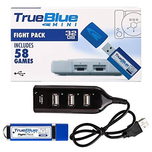 H0_V True Blue Mini Fight Pack mit 58 Spiele für Playstation Classic(32G)