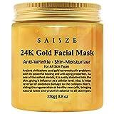 SAISZE - Máscara facial de oro de 24 quilates, antiarrugas y líneas antifinas, antitoxinas e...