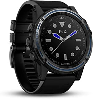 Garmin Descent Mk1, Watch-Sized Dive Computer with Surface GPS, Includes Fitness Features, Sapphire Gray Titanium Bezel with Black Band
