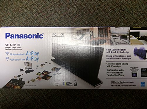 Panasonic SC-AP01 Micro System with Airplay Audio (Discontinued by Manufacturer),Black