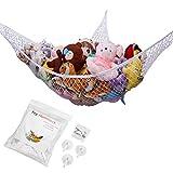 G-Helper Toy Hammock, Stuffed Animal Toy Storage Hammock Net, 70 inch Extra Large Jumbo Mesh Toy Net, Wall Sling Corner Mesh Nets for Kids Toys (White)