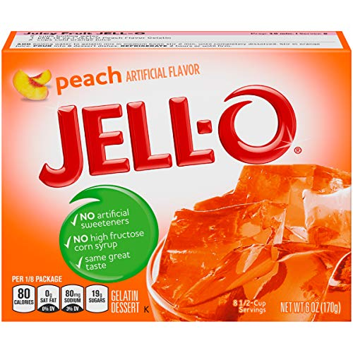 Peach Jell-O, 6 oz