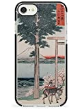 Vintage Japanese Illustrations Gates To MT. Fuji Black Impact Impact Phone Case for iPhone 7 Plus, for iPhone 8 Plus | Protective Dual Layer Bumper TPU Silikon Cover Pattern Printed | Real Japan Art
