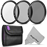 52MM Altura Photo Professional Photography Filter Kit (UV, CPL Polarizer, Neutral...