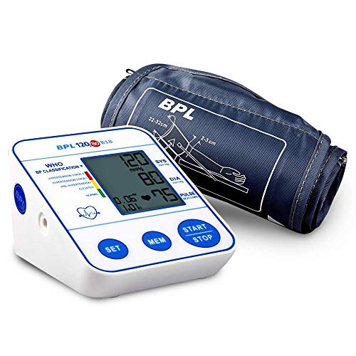 BPL Medical Technologies BPL 120/80 B18 Digital Blood Pressure Monitor with USB Compatibility (White)