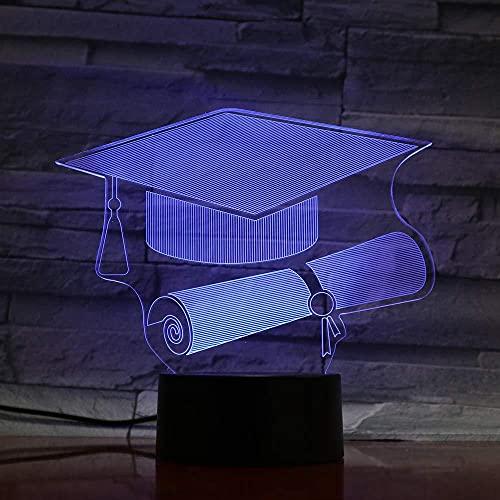 Luz de noche LED 3D, tapa de soltero, 7 colores, cambio de fiesta, caja de batería USB, suministro de luz, regalo, decoración de la habitación, cabecera, hogar, acrílico, dormitorio-7 color touch