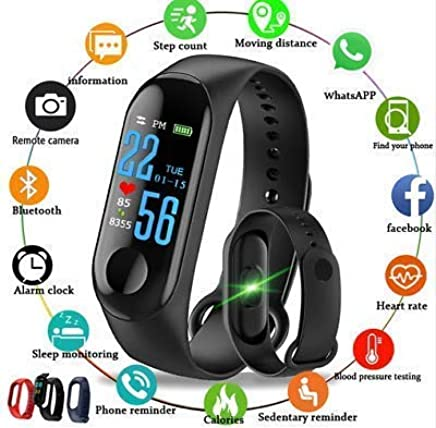 Shree Krishna Intelligence Bluetooth Health Wrist Smart Band Watch Monitor/Smart Bracelet/Health Bracelet/Smart Watch for Mens/Activity Tracker/Bracelet Watch for Men/Smart Fitness Band for All Android iOS Phone Tablet