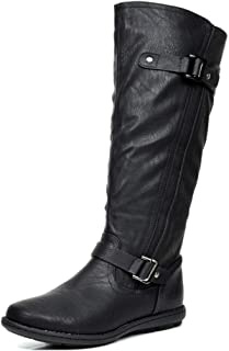 DREAM PAIRS Women's Faux Fur-Lined Knee High Winter Boots (Wide-Calf)