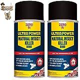 BricoLoco Bomba insecticida Descarga Total. con piretrinas. Sin residuos nocivos. Antipulgas, pulgas, garrapatas, Hormigas, Moscas, Mosquitos, arañas, cucarachas… (2 uds. x 150 ml)