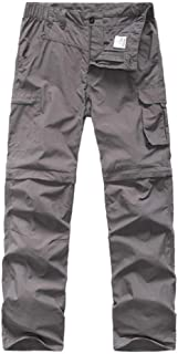 Kids' Cargo Pants, Boy's Casual Outdoor Quick Dry Waterproof Hiking Climbing Convertible Trousers