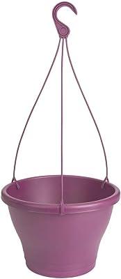 Elho Corsica Hanging Basket Maceta, Morado Fuerte, 30 cm