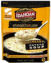 Idahoan Steakhouse Creamy Potato Soup, Made with Gluten-Free 100-Percent Real Idaho Potatoes, 7.1 oz Pouch (Pack of 8)
