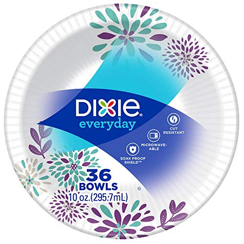 Dixie Everyday Paper Lunch Bowls, 10 oz, 36 Count