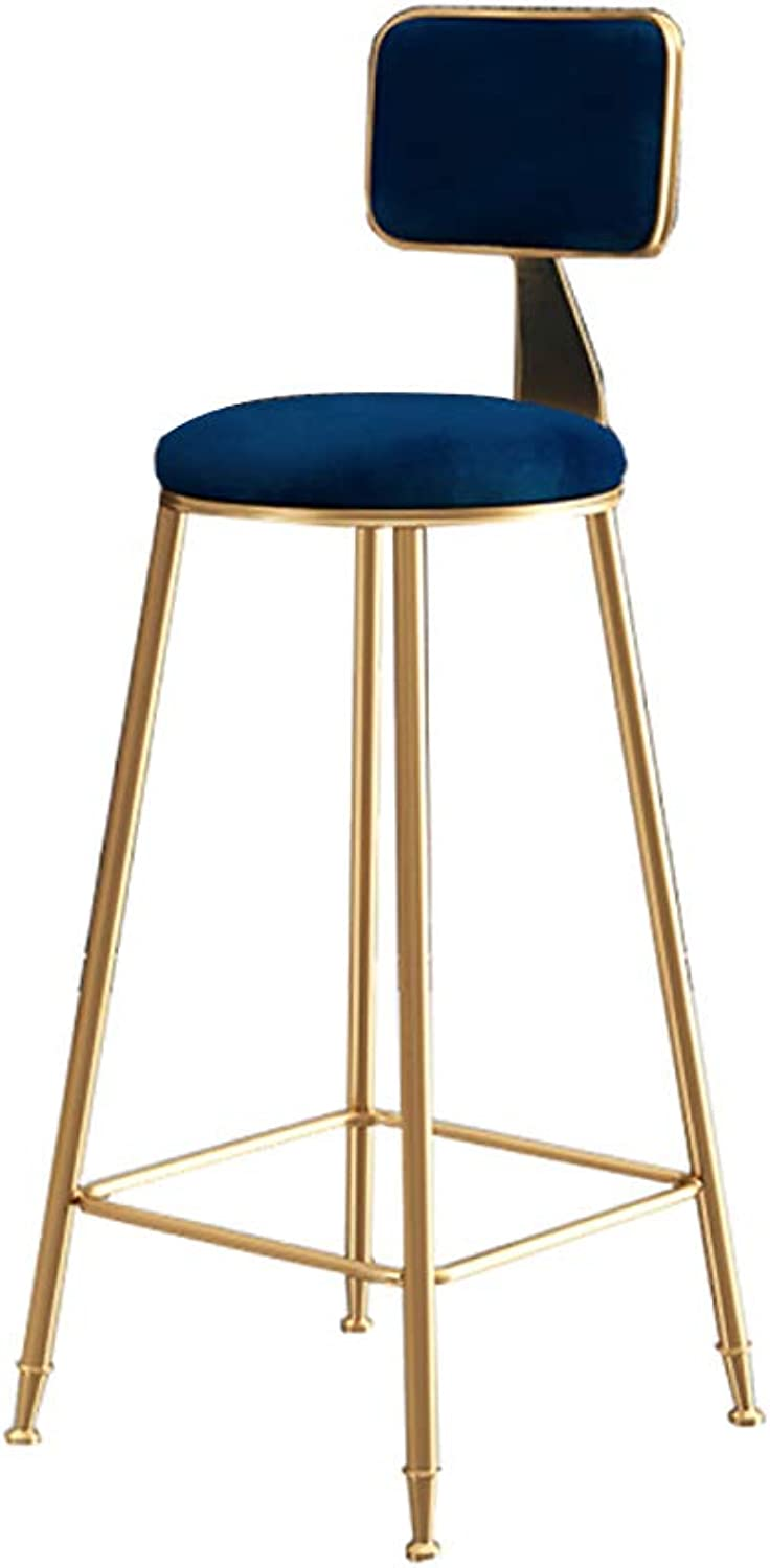 Bar Stools Bar Chairs Breakfast Dining Stools for Kitchen Island Counter Bar Stools with Comfort backrest Load Capacity 100KG