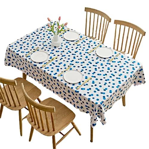 CCBAO PVC Impermeable Y A Prueba De Aceite Multifuncional Rectangular Mantel De Café Hogar Mantel Cuadrado Mantel De Impresión De Frutas Cafetería Mantel De Impresión De Arándanos 100x160cm
