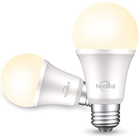 NiteBird Smart Light Bulb Works with Alexa and Google Home, No Hub Required, WiFi Dimmable 800 Lumen Warm White A19 E26 2700K LED Lights Bulbs, 8W (75W Equivalent),2Pack