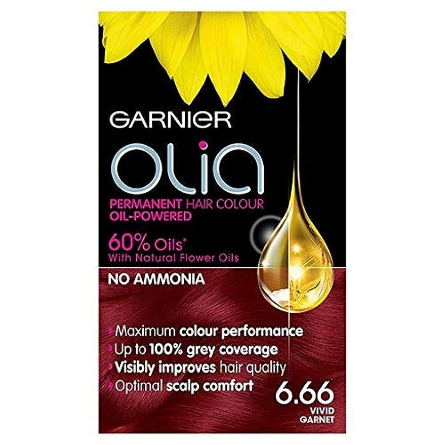 バイオリニスト素晴らしさグローブ[Garnier ] 6.66鮮やかなガーネット赤パーマネントヘアダイOliaガルニエ - Garnier Olia 6.66 Vivid Garnet Red Permanent Hair Dye [並行輸入品]