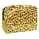 Portátil Bolsa Cosmetica Patrón de Leopardo Bolsa de Neceser Bolso de Organizador Maquillaje en Viaje Almacenamiento de Maquillaje Cosmético Neceseres de Viaje 18.5x7.5x13cm
