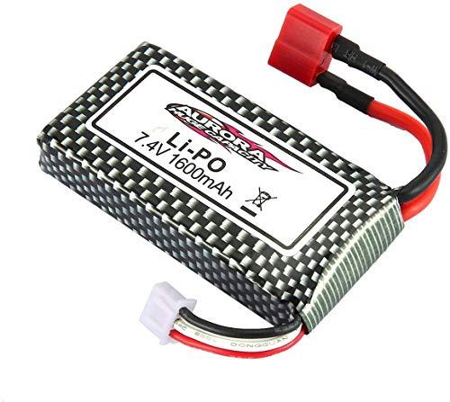 YUNIQUE Espana 1 Batería Lipo 7.4V 1600mAh Batería para Auto XLH 9125 1/10 RC Radio-Controlado