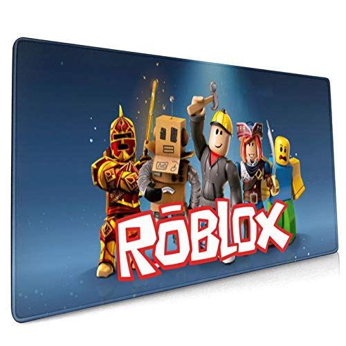 AIXIULEIDUN Ro-Blox Soft Extra Extended Large Mouse Pad, Gaming Desk Pad with Stitched Edges, Non-Slip Rubber Base, Waterproof Computer Keyboard Mouse Mat for Home, Office -35.5' X15.8'