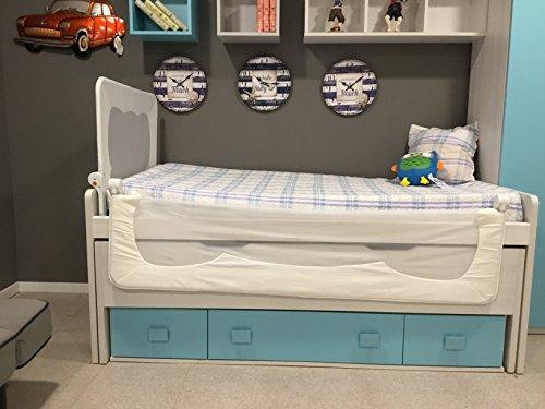 Barrera de cama para bebé, 90 x 66 cm. Modelo Blanco.Valido para...