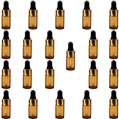 [ルボナリエ] アロマオイル アロマ ボトル エッセンシャルオイル 精油 ガラス瓶 小分けボトル 遮光瓶 小瓶 スポイト アロマオイル (3ml, スポイト, 20+1本 セット)