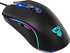 MISEDI Gaming Mouse Wired ,1000Hz Polling Rate, Programmable, 7 Buttons, 7 Modes RGB Lighting and 5 Levels DPI Adjustable, Ergonomic Mouse for Laptop PC Computer