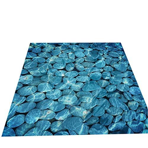 Moent Décor à la Maison Bleu océan Pierre Sol Autocollant Salle de Bain décoration de la Maison Autocollant Autocollant Chambre décor