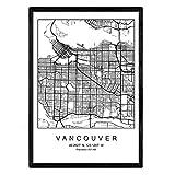 Nacnic Drucken Stadtplan Vancouver skandinavischen Stil in