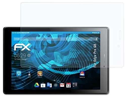 atFolix Schutzfolie kompatibel mit Odys Pro Q8 Folie, ultraklare FX Bildschirmschutzfolie (2X)