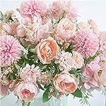 ynh-artificial-flowers-fake-peony-silk-hydrangea-bouquet-decoration-plastic-carnation-realistic-floral-arrangement-wedding-decoration-table-setting-2-pieces-blue