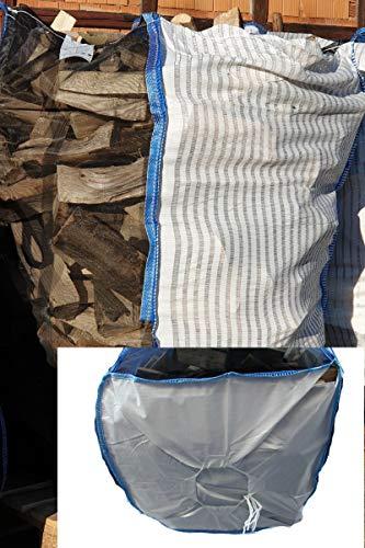 10 x Profi-Holzbag Big Bag für Brennholz Scheitholz Kaminholz Woodbag Brennholzsack Netz Big Bag, 100 * 100 * 160cm mit Sternboden direkt vom Hersteller