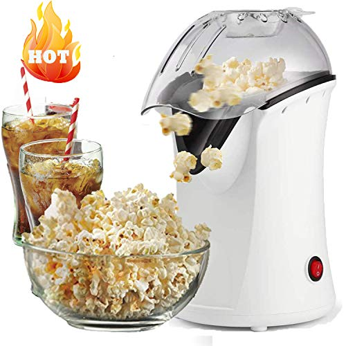 Save %13 Now! Popcorn Machine Hot Air Popcorn Maker with Wide Mouth Design,Electric Portable Popcorn...