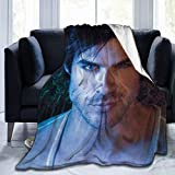 Gjqqjjin Damon-Sa-lvatore Home Blanket Throw Blanket Flannel Fleece Quilted Blankets for Couch Bed Sofa Cozy Warm Ultra-Soft Blanket 50'X40'