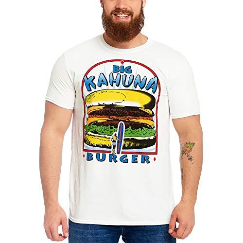 Pulp Fiction Herren T-Shirt Big Kahuna Burger Logo Baumwolle weiß - S