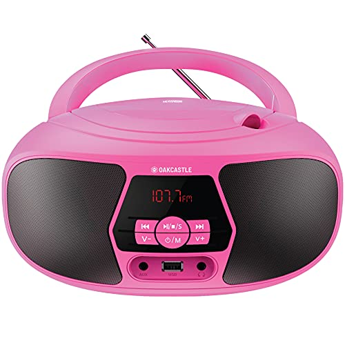 Oakcastle BX200 Boombox | Portable CD Player and FM Radio | Bluetooth Stereo Speakers with Multi-Connection