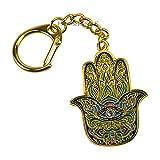 fengshuisale Feng Shui Hamsa Buddha Hand Amulet Keychain W Red String Bracelet W3216