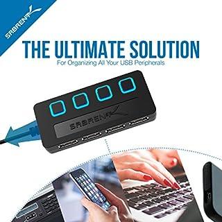 ارخص مكان يبيع Sabrent 4-Port USB 2.0 Hub مع مفاتيح