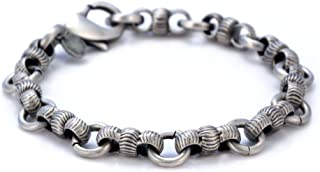 Construct Hand-Made Silver Plated Pewter Bracelet (FB41) Tribal Street Jewelry