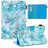 XFDSFDL® Schutzhülle für Huawei MediaPad M3 Lite (8 Zoll) PU Lederhülle Flip Cover Schmetterling Muster mit Ständer Magnetverschluss Taschen Hülle Brieftasche Ledertasche, 05